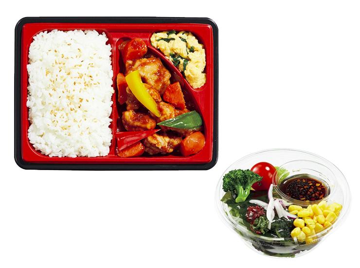 セブンイレブンのお弁当 + サラダ